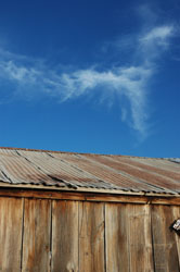 Barn and sky, Gilbert, Arizona