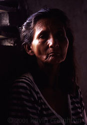 A lady in Ecuador